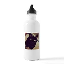 Black Cat Watching You Water Bottle