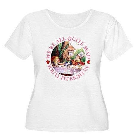 WE'RE ALL MAD - PINK Women's Plus Size Scoop Neck