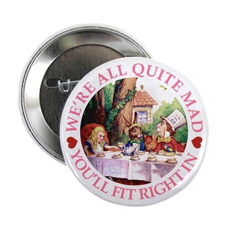"WE'RE ALL MAD - PINK 2.25"" Button"