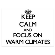 Keep Calm by focusing on Warm Climates Invitations