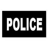 Black Police Rectangle Decal