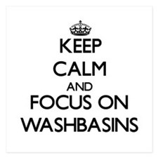 Keep Calm by focusing on Washbasins Invitations