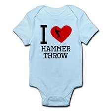 I Heart Hammer Throw Body Suit