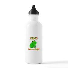 Frogs Make Me Happy Water Bottle