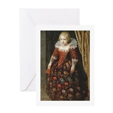 17th C Dutch Girl Greeting Cards
