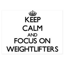 Keep Calm by focusing on Weightlifters Invitations
