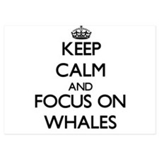 Keep Calm by focusing on Whales Invitations