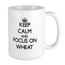Keep Calm by focusing on Wheat Mugs