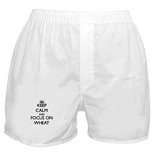 Keep Calm by focusing on Wheat Boxer Shorts