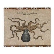 Octopus Kraken vintage scientific illustration Thr