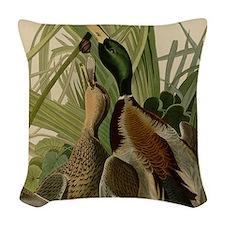 Mallard duck Audubon Bird Vintage Print Woven Thro