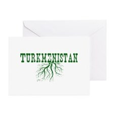 Turkmenistan Roots Greeting Cards (Pk of 10)
