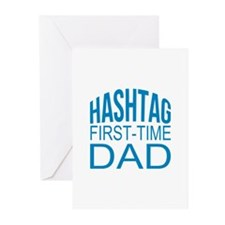 Hashtag First Time Dad Greeting Cards (Pk of 20)