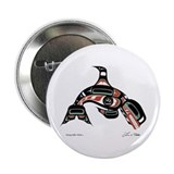 "Diving Killer Whale 2.25"" Button (100 pack)"