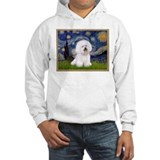 Starry Night and Bichon Frise Jumper Hoody