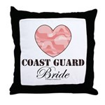 Coast Guard Bride Pink Camo Throw Pillow