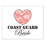 Coast Guard Bride Pink Camo Small Poster