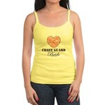 Coast Guard Bride Pink Camo Jr. Spaghetti Tank