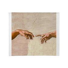 Creation of Adam Fingers Sistine Michelangelo Thro