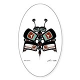 Tléiloo (Moth) Oval Decal