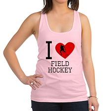 I Heart Field Hockey Racerback Tank Top