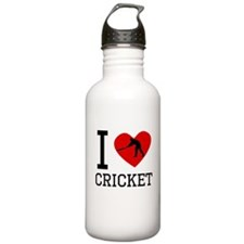 I Heart Cricket Water Bottle
