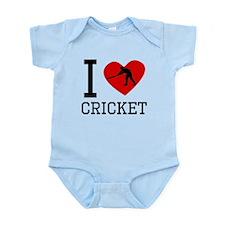 I Heart Cricket Body Suit
