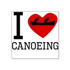 I Heart Canoeing Sticker