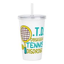 Funny Tennis Acrylic Double-wall Tumbler