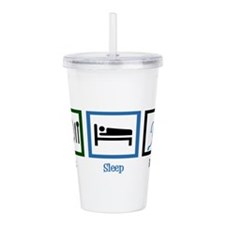 Eat Sleep Run Acrylic Double-wall Tumbler