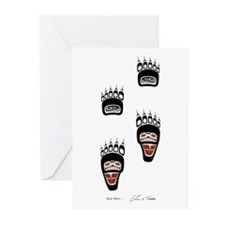 Bear Paws Greeting Cards (Pk of 10)