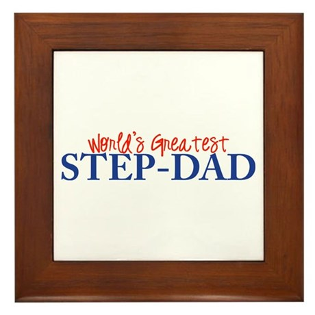 World's Greatest Step-Dad II Framed Tile