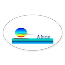 Alana Oval Decal