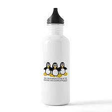 Burning Stare Penguins Water Bottle