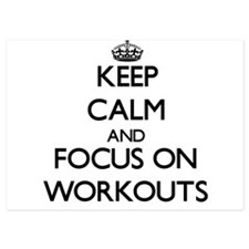 Keep Calm by focusing on Workouts Invitations