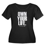 Own Your Life Women's Plus Size Scoop Neck Dark T-