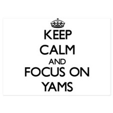Keep Calm by focusing on Yams Invitations