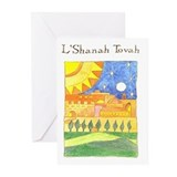 Rosh HaShanah: Sun Greeting Cards (Pk of 10)