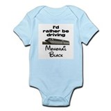 Monorail Black Infant Bodysuit