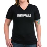 Unstoppable Women's V-Neck Dark T-Shirt