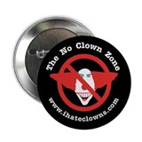 "No Clown Zone anti-clown 2.25"" Button (10 pack)"