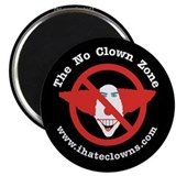 "No Clown Zone Anti-Clown 2.25"" Magnet (100 pack)"