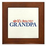 World's Greatest Grandpa II Framed Tile