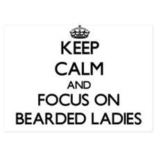 Keep Calm by focusing on Bearded Ladie Invitations
