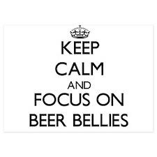 Keep Calm by focusing on Beer Bellies Invitations