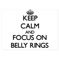 Keep Calm by focusing on Belly Rings Invitations