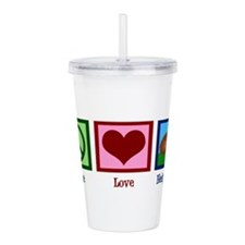Peace Love Hedgehogs Acrylic Double-wall Tumbler