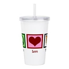 Peace Love Tigers Acrylic Double-wall Tumbler