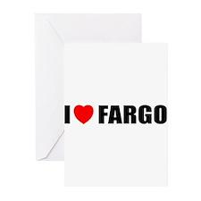 I Love Fargo Greeting Cards (Pk of 10)