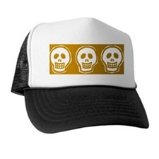Skull on yellow background Trucker Hat